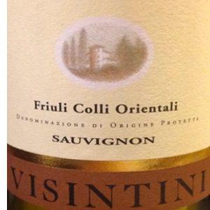 Visintini Sauvignon Blanc Italie Witte Wijn etiket