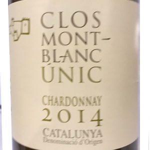 Clos Mont Blanc Chardonnay Witte Wijn Spanje etiket
