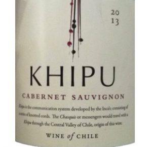 Khipu Cabernet Sauvignon Rode Wijn Chili etiket