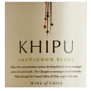 Khipu Sauvignon Blanc Chili Droge Witte Wijn etiket