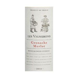 Les Vignerons Grenache Merlot Rose Frankrijk etiket