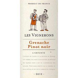 Les Vignerons Grenache Pinot Noir Rood Frankrijk etiket