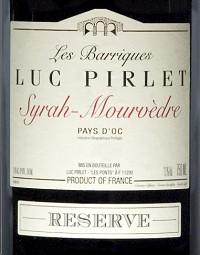Luc Pirlet Barrigues Syrah Mourv. Frankrijk